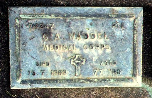 G.A. Waddel plaque